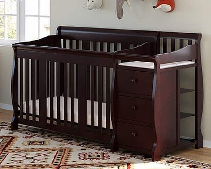 Stork Craft Portofino 4-in-1 Convertible Crib