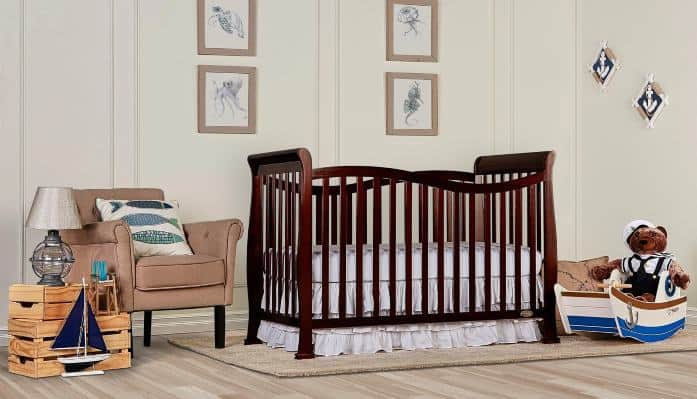 Dream On Me 7-In-1 Convertible Crib Feature
