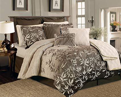 Taupe Luxury Comforter Set