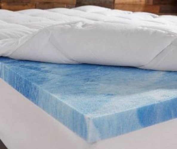 DreamFoam 2in Gel Swirl Memory Foam Mattress Topper