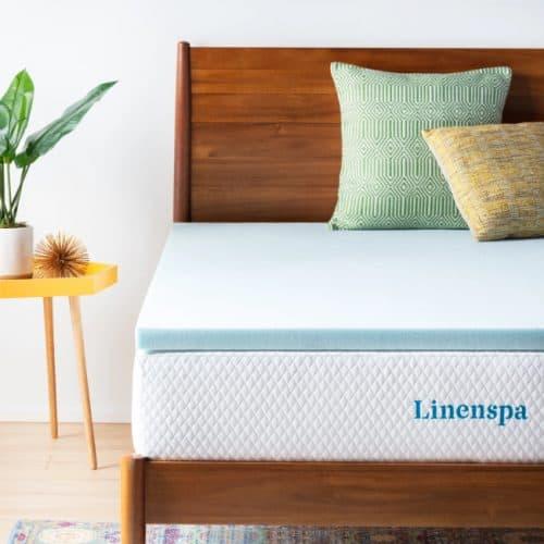 LINENSPA 2-Inch Gel Infused Memory Foam Mattress Topper
