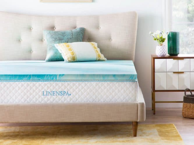 LINENSPA 2-Inch Gel Infused Memory Foam Topper