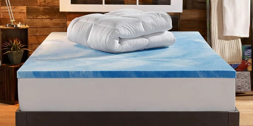 sleep innovations 4-inch dual layer mattress topper featured
